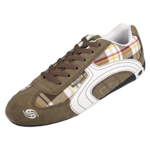 Dockers 246200 Damen Sneaker Veloursleder, braun, Größe 37