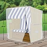 Premium Schutzhülle für Strandkorb aus Polyester Oxford 600D von 'mehr Garten' - Größe XL (Breite: max. 150cm)