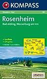 Rosenheim, Bad Aibling, Wasserburg am Inn: Wander- und Bikekarte. GPS-genau. 1:50.000