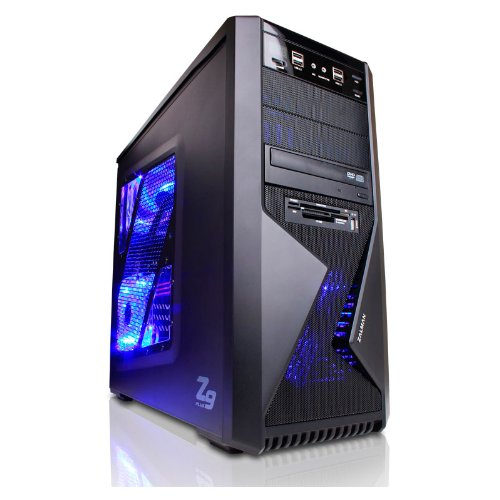 GAMING-PC Computer Quad-Core AMD FX-Series Bulldozer FX-4100 Turbo 4x3.8 GHz | Windows 7 Home 64 bit | Nvidia GeForce GT630 4 GB | 250GB SATA Festplatte | 8 GB RAM 1333 MHz | DVD Brenner 22x | 7.1 Sound | 6x USB 2.0 | GBit LAN |400 Watt Silent Netzteil | Gamer PC