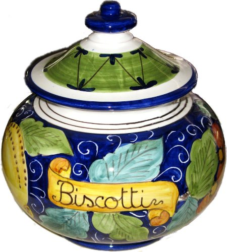 Mixed Fruit - Italian Ceramic Frutti Biscotti Cookie Jar