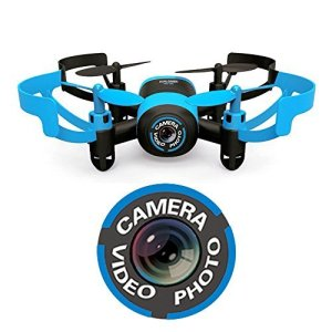 Hasakee-Mini-RC-Helicopter-Drone-24Ghz-6-Axis-Gyro-4-Channels-Quadcopter-With-CameraHeadless-ModeBlue-Bee
