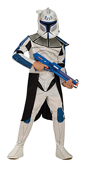 Star Wars Clone Wars Clone Trooper Child's Captain Rex Costume, Medium