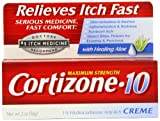 Skeeter Syndrome Treatment - Cortizone-10 Max Strength Cortizone-10 Crme, 2oz Boxes (Pack of 2)