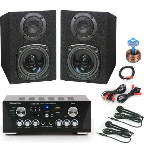 200W Karaoke Set Boxen Verstärker Mikrofon DJ-700