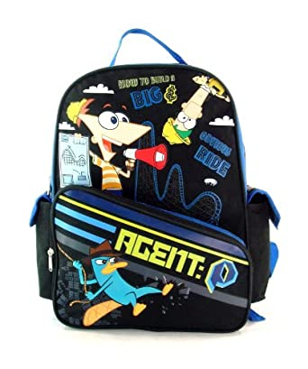 Phineas & Ferb Large 16 School Backpack Save the World
