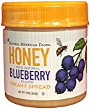 Natural American Foods Honey Creamy Spread, Blueberry, 12 Ounce