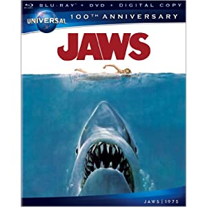 Jaws [Blu-ray + DVD + Digital Copy + UltraViolet] (Universal's 100th Anniversary)