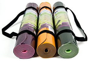 Eco-Friendly-Two-Layer-TPE-Premium-Yoga-Mat-with-Carry-Strap-by-YogiMall-Free-of-PVC-and-Other-Toxic-Chemicals-Non-Slip-Extra-Long-72Thick-6mm-Light-Weight-24-Lbs-Perfect-for-Yogis-On-The-Go