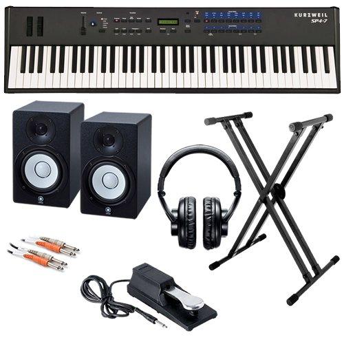 Kurzweil SP4-7 Stage Piano STUDIO BUNDLE w/ Monitor Speakers & Stand