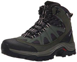 Salomon Men's Authentic LTR CS WP Hiking Boot, Asphalt/Night Forest/Aluminium, 7.5 D US