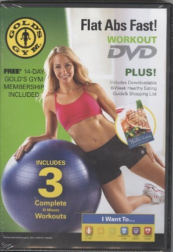 Gold's Gym Flat ABS Fast DVD Workout | eBay