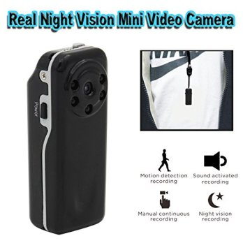 Conbrov-DV12-Real-Starlight-Night-Vision-Mini-Portable-Hidden-Spy-Video-Camera-Voice-and-Motion-Activated-Recorder-DV-Cam-for-Wearable-Pocket-or-Indoor-Home-Security-use