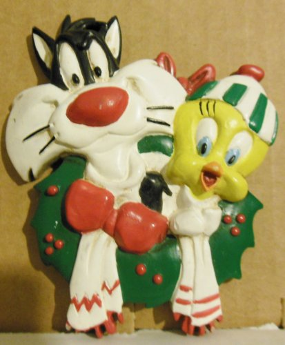 Looney Tunes Licensed Sylvester and Tweety Christmas Ornament