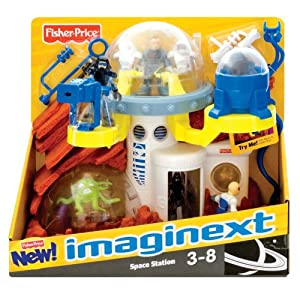 Fisher Price Imaginext Space Station Moon Set: Amazon.co ...