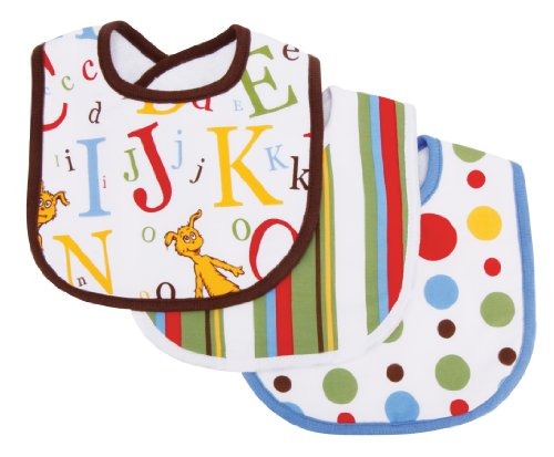 Trend Lab 3 Count Bib Set, Dr. Seuss ABC
