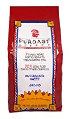 Puroast Low Acid Coffee Nutcracker Sweet Drip Grind, 2.5-Pound Bag