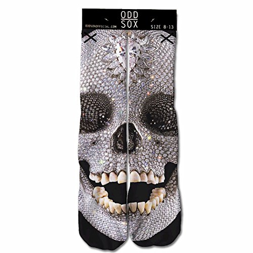 Odd Sox Skull Diamond Crew Sock Fits Shoe 6-13
