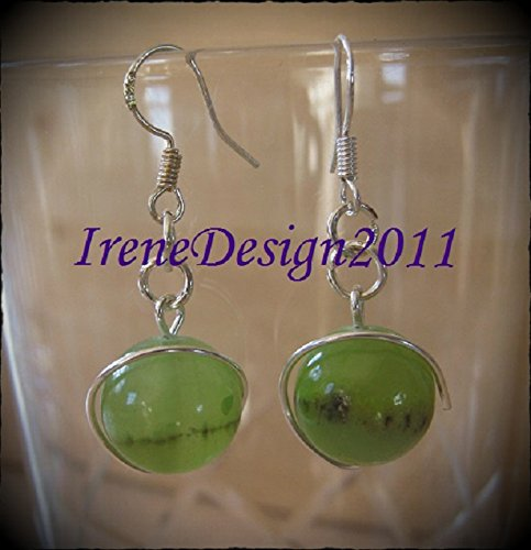 Old Green Jade Earrings