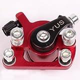 Bremssattel Bremse für Mach1 Benzin oder Elektro E-Scooter / Bremsanlag Rot-Metallic