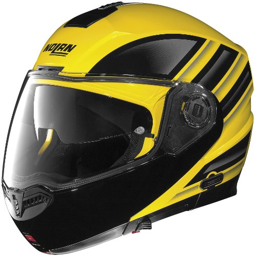 Buy Nolan N104 Modular Graphics Helmet, Voyage Yellow/Black, Primary Color: Yellow, Helmet Type: Modular Helmets, Helmet Category: