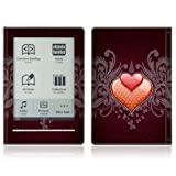 Double Hearts Design Protective Decal Skin Sticker for Sony Digital Reader Pocket PRS 600