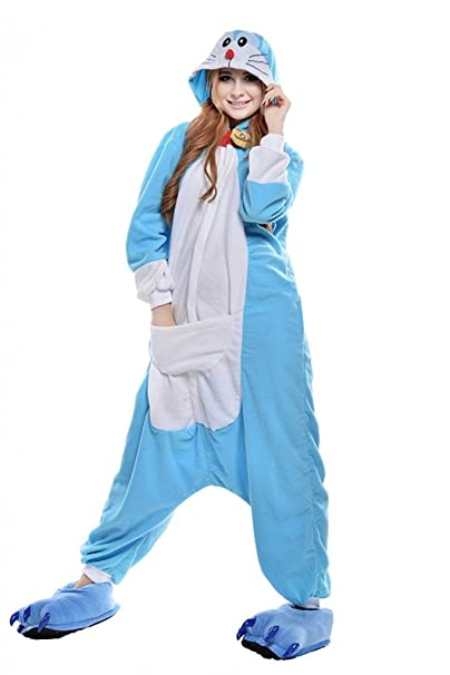 Engerla Sleepsuit Pajamas Costume Halloween Cosplay Homewear Adult Anime Onesies Doraemon Small Size