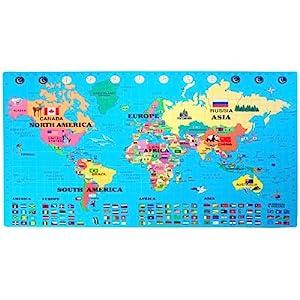 World Map Foam Puzzle