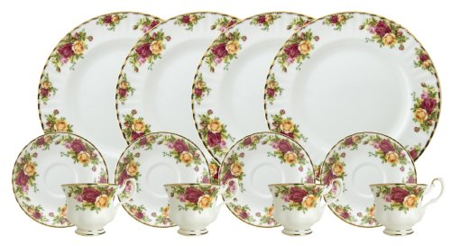 Royal Doulton-Royal Albert Old Country Roses 12-Piece Set, Service for 4