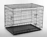 """Best Pet Black 36"""" Pet Folding Dog Cat Crate Cage Kennel w/ABS Tray LC"""