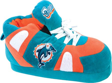 Comfy Feet Men's Miami Dolphins 01 Slippers,Green/Orange,XXL M US