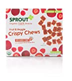Sprout Crispy Fruit and Veggie Chews, Red Berry and Beet, 3.15 Ounce