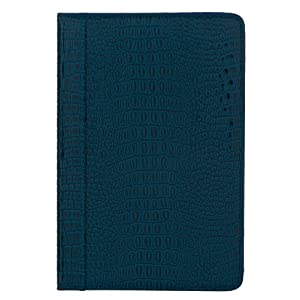 """M-Edge GO! Crocodile-Embossed Patent Leather Kindle Jacket, Marine Blue (Fits 6"""" Display, Latest Generation Kindle)"""