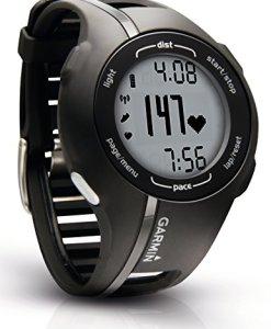 Garmin Forerunner 210 HRM - Reloj GPS con monitor de ritmo cardíaco, color negro