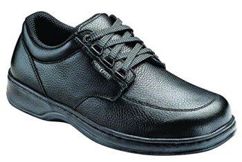 Orthofeet Avery Island Mens Comfort Extra Wide Depth Arthritis Diabetic Walking Shoes Black Leather 9.5 W US