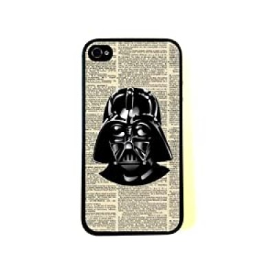 Vintage Darth Vader cool Star Wars artistic newsprint iphone 4/4s case at amazon