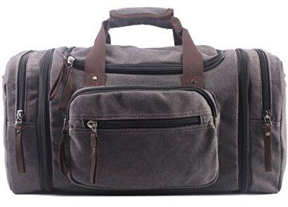Aidonger-Unisex-Canvas-Travel-Bag-with-big-Capacity-Gray