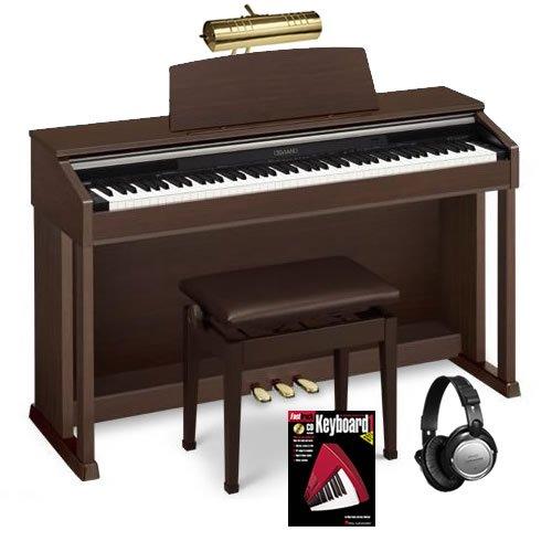 Casio AP-420 Digital Piano BUNDLE w/ Matching Bench, Lamp & Headphones
