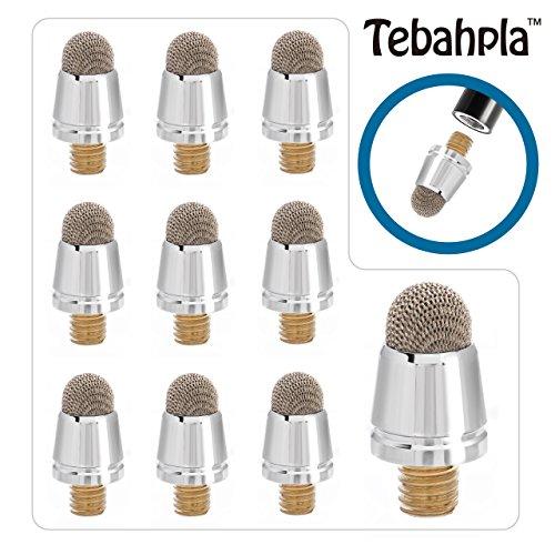 テバップラTebahpla 細いペン先タイプ スタイラスペン タッチペン 導電繊維 3本セット専用 交換用ペン先10個セット iPhone iPadなどの静電容量式タッチパネルに対応