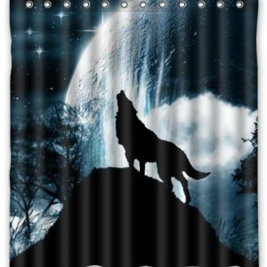 Howling Wolf Shower Curtain from Amazon!