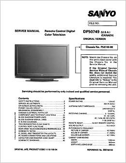SANYO DP50749 service manual with schematics: SANYO: Amazon: Books
