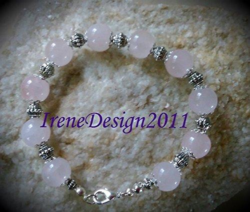 Silver Bracelet with Rose Quartz