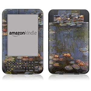 "DecalGirl Kindle Skin (Fits 6"" Display, Latest Generation Kindle) Monet - Water lilies (Matte Finish)"