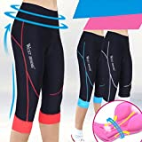 West Biking Women Bike Capri Cycling Breathable Knicker Pirate 3D Gel Padded Bicycle Shorts