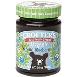 Crofters Organic Just Fruit Spread Wild Blueberry -- 10 oz