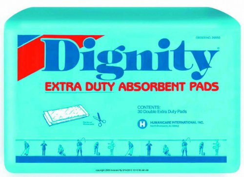 Dignity Extra Duty Absorbent Pads, Dignity Pads Xtra Absbnt, (1 CASE, 180 EACH)