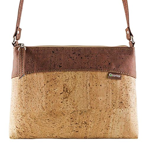 Crossbody Bag Women - Vegan Handbag Cross-Body - Cork Purse - Red Cork Handbag