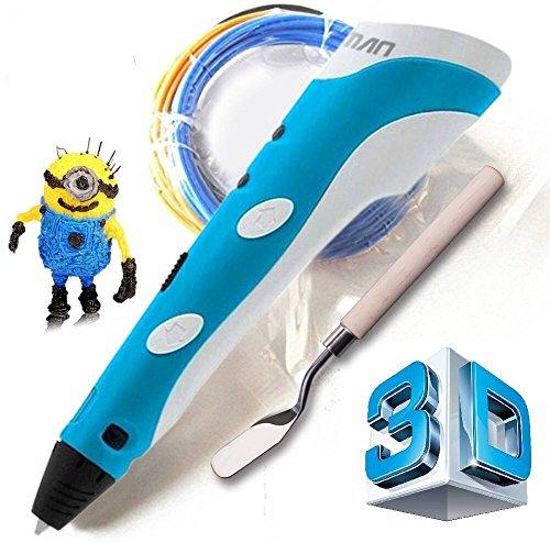 Stylo-3D-pen-Arts-Crafts-pour-dessin-en-3D-et-griffonner-avec-3-boucles-dABS-idal-cadeau-pour-les-enfants-Kuman-100A