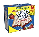 Pop-Tarts, Frosted Strawberry, 29.3-Ounce, 16-Count Boxes (Pack of 8)
