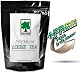 "White Chocolate Rooibos Herbal Tea - 4 oz (with FREE 1.5"" Mesh Tea Infuser)"